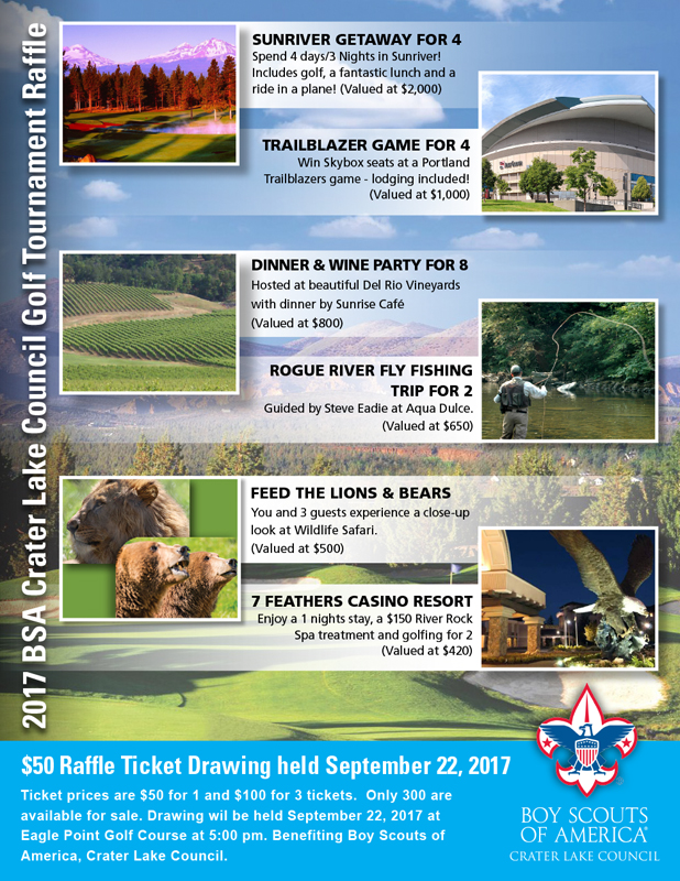 2017 BSA Crater Lake Council Golf Tournament Flyer